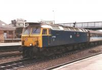 47706 'Strathclyde' arrives at Perth on an unknown date.<br><br>[Jim Peebles&nbsp;//]