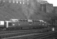 Deltic D9009 'Alycidon' leaves Waverley with the 12.15 (SuO) to Kings Cross.<br><br>[Bill Jamieson&nbsp;15/02/1970]