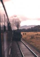 Last days of steam on the Highland Main Line - a Black 5 hard at work hauling a Perth-Inverness goods north of Blair Atholl on 6th September 1961.<br><br>[Frank Spaven Collection (Courtesy David Spaven)&nbsp;06/09/1961]