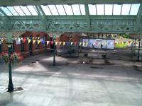 View over the concourse towards the abandoned bays at the south end of Tynemouth station in August 2010. [See image 19724 for a similar view nearly thirty years earlier]. While some general improvements are noticeable the station roof has remained the main concern here for some time. Happily, funding to carry out restoration of the roof and supporting ironwork has now been secured.  <br><br>[Colin Alexander&nbsp;18/08/2010]