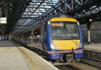 170 454 in the bay platform at Dundee with the 16.50 to Edinburgh on 4 October.<br><br>[Bill Roberton&nbsp;04/10/2010]