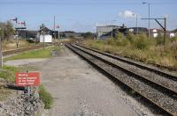 View east at Keith Junction on 4 October 2010, with the formerly rail-served Chivas Regal plant to the right, incorporating part of the old locomotive shed.<br> <br><br>[Bill Roberton&nbsp;04/10/2010]