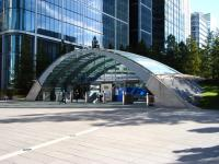 Entrance to the London Underground Jubilee Line station at Canary Wharf in September 2010.<br><br>[Veronica Clibbery&nbsp;18/09/2010]