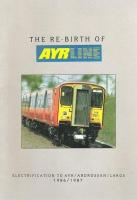 A brochure advertising the forthcoming electric service in <br> Ayrshire in 1986.� The sharpness of the image, the apparently missing second track and the driver's seeming lack of vigilance all suggest that the shiny new 318 250 was not in fact winging its way to Ayr at all and that this shot was posed off the running line.� Elsewhere in the brochure the same driver is seen in 318 260, this time showing unnecessary vigilance as he's sitting behind tail lights on rusty track again 'heading for Ayr'. <br> <br><br>[David Panton&nbsp;//1986]
