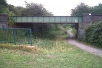 The Bermuda industrial estate, South of Nuneaton, is the proposed site of a new station between Nuneaton and Bedworth. This bridge over an old canal could be used as an instant underpass!<br><br>[Ken Strachan&nbsp;24/07/2010]