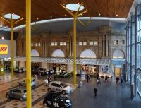 The impressive remodelled outer concourse at Aberdeen station, seen on 13 October 2010. This is now part of the Union Square development (shopping / cinemas / restaurants / bus station / hotel etc.) [See image 12347] <br><br>[Colin Martin&nbsp;13/10/2010]