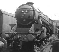 44971 on shed at Lostock Hall in 1966.<br><br>[Jim Peebles&nbsp;//1966]