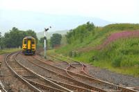 A northbound Carlisle service Approaching Kirkby Stephen in the Spring of 2010.<br><br>[Ian Dinmore&nbsp;//2010]