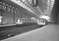 View east along the platforms at Manchester Exchange on 3 May 1969 as the LCGB (North West Branch) <I>Manchester Terminals Farewell Railtour</I> prepares to get underway.<br><br>[K A Gray&nbsp;03/05/1969]