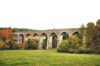 The seven arch Divie Viaduct was designed�by Joseph Mitchell�for the Highland Railway and built by George Meakin of Birkenhead between 1861 and 1863. View from the west in October 2010.<br><br>[John Gray&nbsp;14/10/2010]