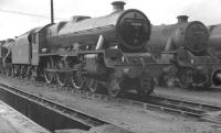 Jubilee 45638 <I>Zanzibar</I> stands on Longsight shed, Manchester, in 1959.  <br><br>[K A Gray&nbsp;//1959]