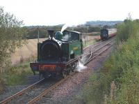 The 1045 from Bo'ness following arrival at Manuel on 16 October hauled by no 17 <i>Braeriach</i>.<br> <br><br>[Brian Forbes&nbsp;16/10/2010]
