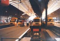 These three HST's look to be ready for a drag race out of Paddington in July 1987.<br><br>[Ken Strachan&nbsp;12/07/1987]