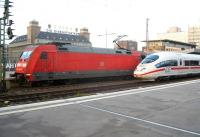 German railways class 101 electric and ICE units stand side by side at Essen Hbf in October 2010.<br><br>[Michael Gibb&nbsp;12/10/2010]