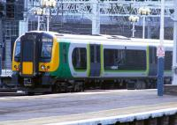 <I>Desiro</I> unit 350 232 in London Midland livery departing London Euston in July 2009. <br><br>[Colin Harkins&nbsp;13/07/2009]