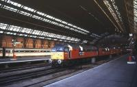 Scene at St Pancras in April 1995.<br><br>[Ian Dinmore&nbsp;/04/1995]