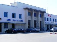 Station frontage of Gare de Sousse in Tunisia. Sousse is located 140km from the capital Tunis and sits on the Mediterranean Sea.<br><br>[Colin Harkins&nbsp;22/08/2010]