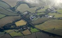 A 125 heads west about half way between Saint Germans and Menheniot. West is to the right in this aerial view.<br><br>[Ewan Crawford&nbsp;27/10/2010]