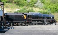 45212 about to go off Grosmont shed to pick up its train; 20th of April 2009.<br><br>[John Furnevel&nbsp;20/04/2009]