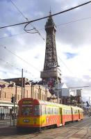 Car no 672, with 682 trailing, heading south past Blackpool Tower on the 19th of October 2010.<br><br>[Bill Roberton&nbsp;19/10/2010]
