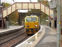 A Network Rail MPV working a Railhead Treatment Train heading South through Johnstone on 27th October 2010. These trains are kept busy during leaf fall season, and can continue to do so through to mid to late December, depending on weather conditions<br><br>[Graham Morgan&nbsp;27/10/2010]