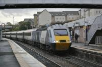 The 10.30 East Coast service from Kings Cross, bound for Aberdeen, enters Inverkeithing on 1 November 2010.<br><br>[Bill Roberton&nbsp;01/10/2010]