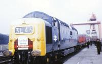 D9021 prepares to take the inaugural Euro-Scot away from Portobello FLT in 1968.<br><br>[Jim Peebles&nbsp;07/10/1968]