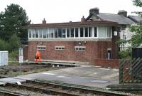 Harrogate North signalbox, September 2010.<br><br>[John Furnevel&nbsp;27/09/2010]