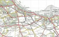 The network of lines on the east side of Edinburgh in the late 1950s. [See image 31419] (Crown Copyright 1957).<br> <br><br>[David Panton&nbsp;//]