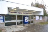 The modern looking ticket office at North Woolwich in November 2006. Quite a contrast with the original terminus of the line standing just off to the right, built by the Eastern Counties Railway in 1847 [see image 30650]. This replacement lasted less than 20 years, being effectively 'replaced' itself by the nearby Docklands Light Railway station at King George V on the DLR extension to Woolwich Arsenal.<br><br>[Ian Dinmore&nbsp;29/11/2006]