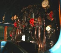 Footplate of 4468 <i>Mallard</i> at NRM Shildon, November 2010.<br><br>[John Furnevel&nbsp;03/11/2010]