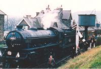 The RCTS <I>North Eastern Limited</I> calls at Robin Hood's Bay on 2 May 1964 on its way from Newcastle to Whitby. B1 61031 <I>Reedbuck</I> had taken over the train at York. [See image 26270] for a view of the station forty five years on.<br><br>[Bruce McCartney&nbsp;02/05/1964]