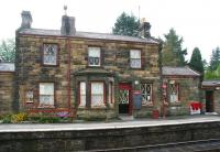 <I>'Wartime weekend'</I> preparations underway at Goathland station in October 2009.<br><br>[John Furnevel&nbsp;14/10/2009]