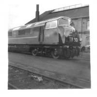 'Warship' diesel hydraulic no D829 <I>Magpie</I> at Swindon Works in May 1961.<br><br>[David Pesterfield&nbsp;06/05/1961]