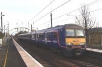 A class 322 arrives at Longniddry with a service to Edinburgh on 18 November 2010.<br><br>[Brian Forbes&nbsp;18/11/2010]