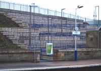 The newly constructed disabled access to the southbound platform at Cupar seen here on 21 November 2010.<br><br>[Brian Forbes&nbsp;21/11/2010]