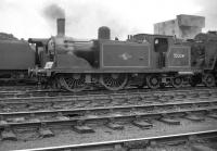 McIntosh ex-Caledonian 0-4-4T no 55234 simmers in the yard at Kingmoor in the summer of 1959.<br><br>[Robin Barbour Collection (Courtesy Bruce McCartney)&nbsp;01/08/1959]