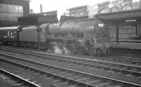 Royal Scot no 46132 <I>The King's Regiment Liverpool</I> stands at Carlisle in August 1962 with the 10.50am Glasgow Central - Liverpool Exchange.<br><br>[K A Gray&nbsp;04/08/1962]