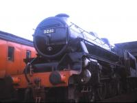 Black 5 no 5231 stands on Carnforth shed in August 1970.<br><br>[Jim Peebles&nbsp;/08/1970]