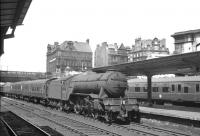 V2 no 60835 arriving at Carlisle on 3 July 1965 with the up 9.50am (Summer Saturdays Only) Edinburgh (Waverley) - Sheffield (Midland) train.<br><br>[K A Gray&nbsp;03/07/1965]