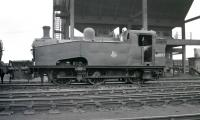 Gresley J50 0-6-0T no 68897 stands alongside the coaling plant at Darlington shed on 12 July 1958.<br><br>[K A Gray&nbsp;12/07/1958]
