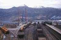 Plenty of steel on rail in this 1970s view of the terminus at Kyle of Lochalsh.<br><br>[Frank Spaven Collection (Courtesy David Spaven)&nbsp;//]