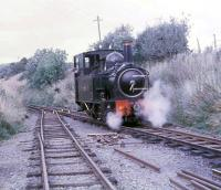First season of operation on the W&LLR sees <I>The Earl</I> running round at Castle Caereinion, the temporary terminus for several years before reopening back to Welshpool. <br><br>[David Hindle //1963]