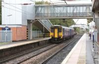 A Northern 156 DMU on a Hazel Grove - Preston service prepares to start its journey on 19 Oct 2010.<br> <br><br>[John McIntyre&nbsp;19/10/2010]