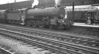 B16 4-6-0 no 61444 at Doncaster on 28 July 1962 about to take out the 5pm Kings Cross - Hull train. D4082 is on station pilot duty in the background.<br><br>[K A Gray&nbsp;28/07/1962]