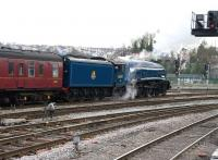 Preserved A4 Pacific no 60007 <I>Sir Nigel Gresley</I> photographed at Bristol Temple Meads at 1305 on 1 December with a special from London Victoria.<br><br>[Peter Todd&nbsp;01/12/2010]