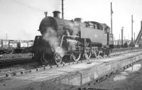 BR Standard class 4 2-6-4T no 80118 at Polmadie in October 1965.<br><br>[K A Gray&nbsp;20/10/1965]