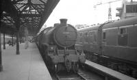 B1 4-6-0 no 61344 stands at Glasgow's Buchanan Street station on 25 July 1966 waiting to take out the 5.50pm service to Dunblane. The locomotive was withdrawn from Thornton Junction 2 months later.<br><br>[K A Gray&nbsp;25/07/1966]