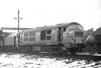 Class 29 no D6108 has a dumped look about it at Eastfield shed on 14 February 1970. The aesthetics of the design always left something to be desired and can perhaps only now achieve some degree of acceptability by comparison with the class 70!<br><br>[Bill Jamieson&nbsp;14/02/1970]