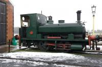 Scene on the East Somerset Railway at Cranmore on 4 December 2010. The locomotive featured here is <I>Lord Fisher</I>, a 10' Barclay 0-4-0ST, currently in store pending overhaul.<br> <br><br>[Peter Todd&nbsp;04/12/2010]
